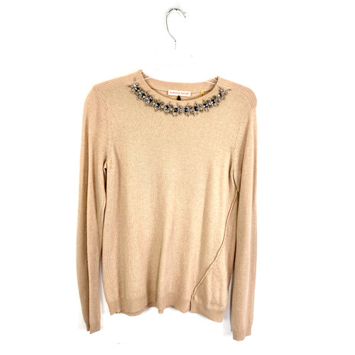 Rebecca Taylor Embellished Collar Sweater- Front