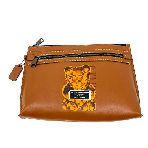 Coach Bad Bear Printed Clutch- Front