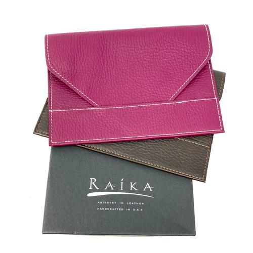 Raika Leather Envelope Pouch Set- Thumbnail