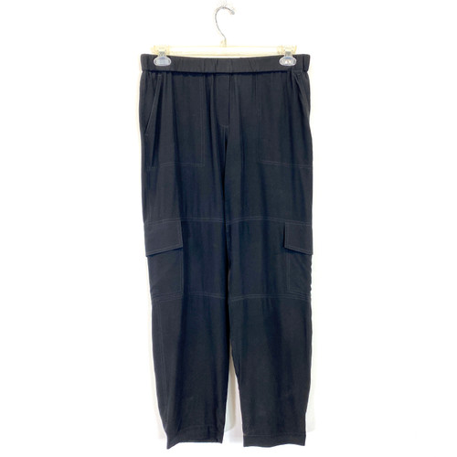 Theory Silk Cargo Pants- Front