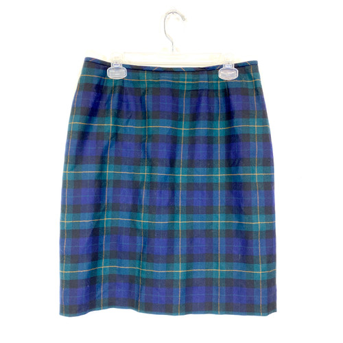 Vintage Kasper Tartan Pencil Skirt- Front