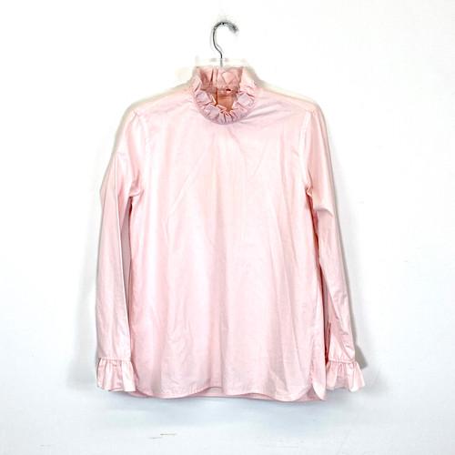 Sandro Ruffled Collar Shirt- Front