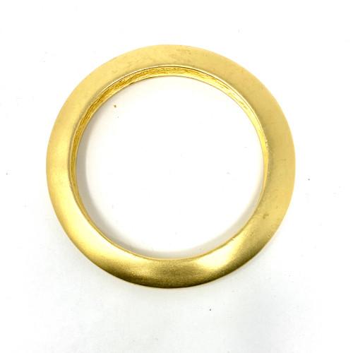 Gold Flattened Bangle- Thumbnail