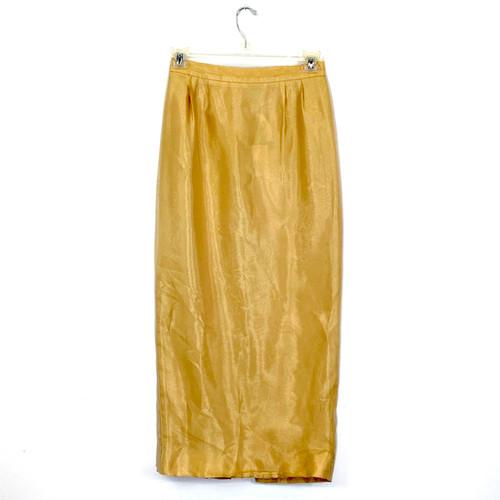 Vintage Metallic Maxi Skirt- Front