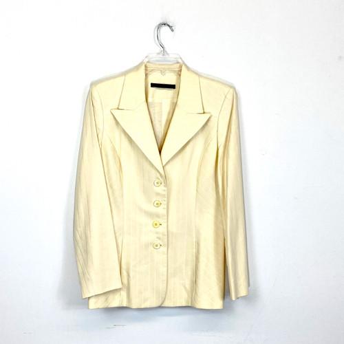Perry Ellis Monochrome Striped Blazer- Front