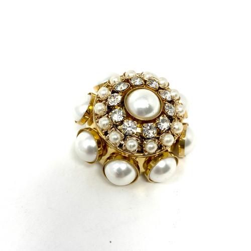 Pinko Pearl Circle Brooch- Thumbnail