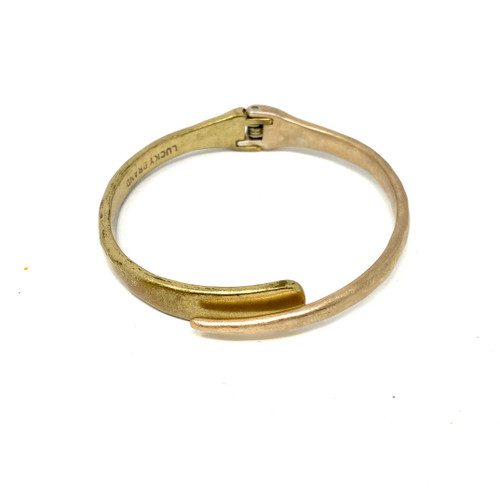Two Tone Hinged Bangle- Front