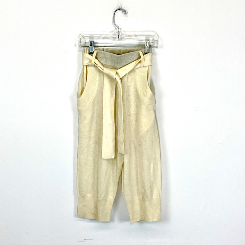 Ca$hmere Belted Knit Shorts- Front