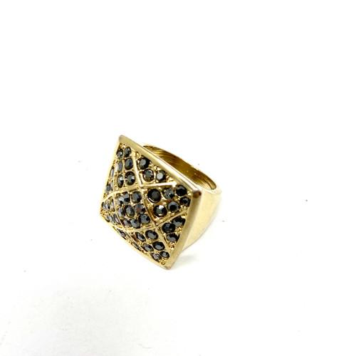 Square Rhinestone Ring- Thumbnail