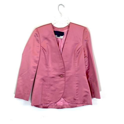 Carolyne Roehm Satin Evening Jacket- Front
