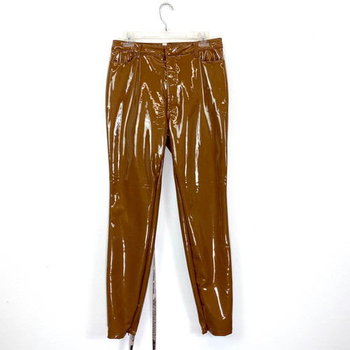 House of London Pleather Pants- Front