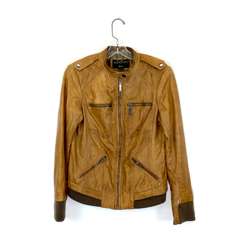 Bernardo Soft Leather Moto Jacket- Front