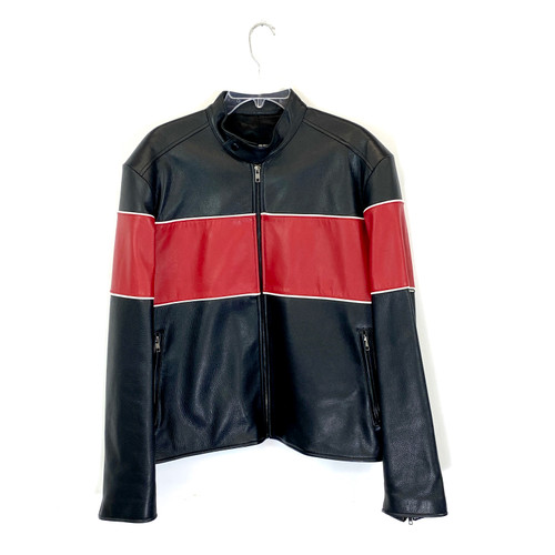 Tri-Color Motorcycle Jacket- Front