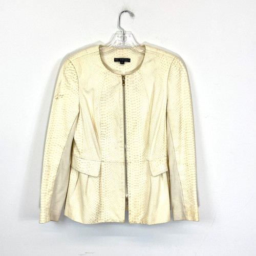 The Wrights Textured Zip Front Jacket- Front