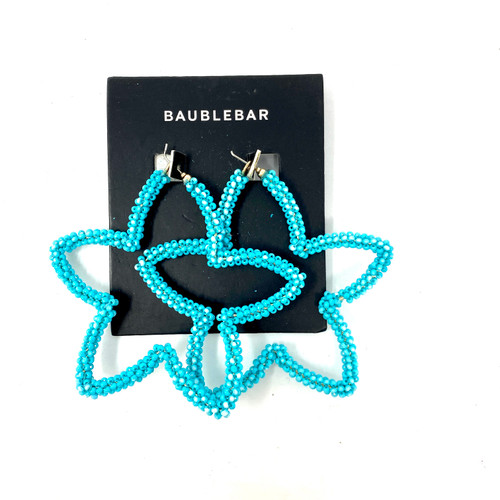 Turquoise Beaded Starfish Earrings- Thumbnail