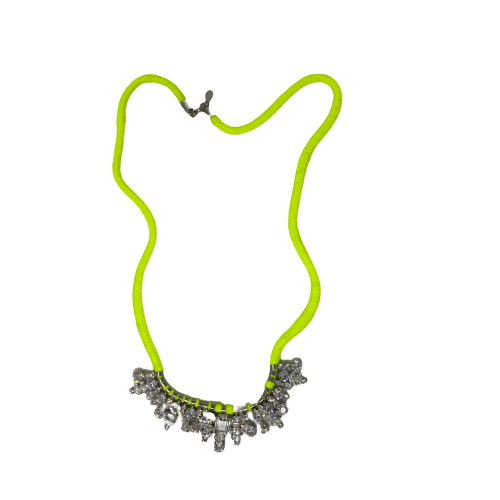 Neon Corded Rhinestone Necklace- Thumbnail