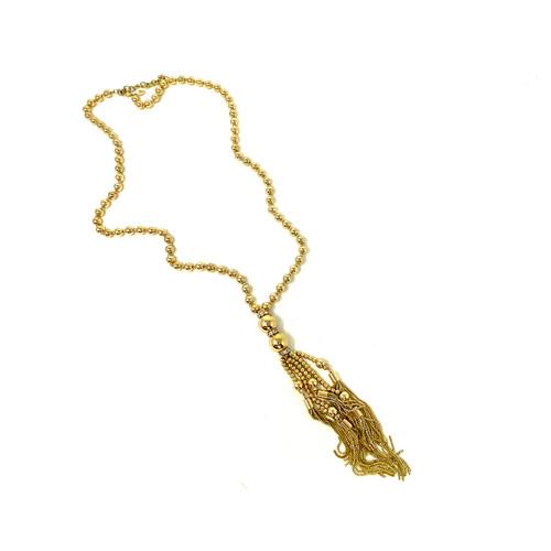 Joan Rivers Shiny Chain Tassel Pendant Necklace- Thumbnail