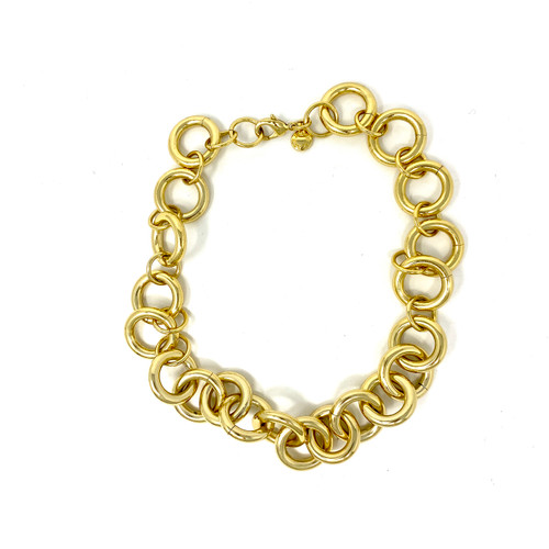 J. Crew Loopy Chain Statement Necklace- Thumbnail