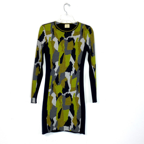 Torn by Ronny Kobo Knit Camo Bodycon Dress- Front