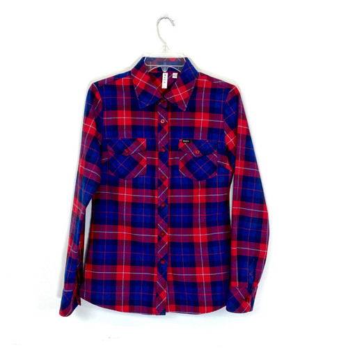 RVCA Plaid Flannel Button Down- Front