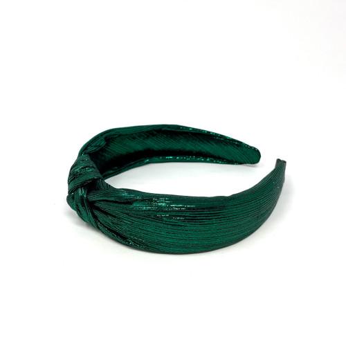 Shashi Plisse Lurex Headband- Top