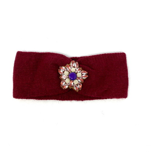 Deepa Gurnani Pearl Flower Ear Warmer
