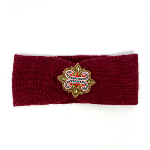 Deepa Gurnani Beaded Crest Ear Warmer