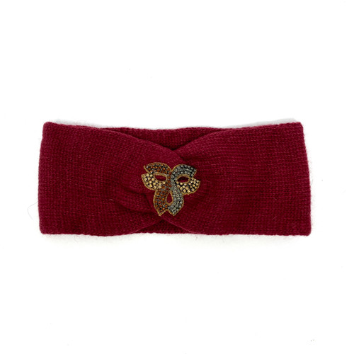 Deepa Gurnani Ribbon Crest Ear Warmer