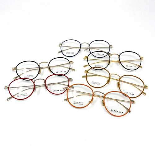 Derek Lam Leather Eyeglass Frames