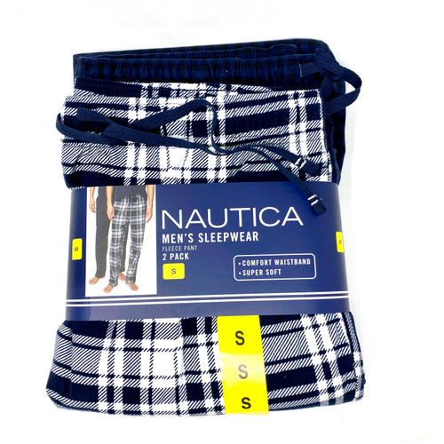 Nautica Flannel Pajama Bottoms Set- Blue
