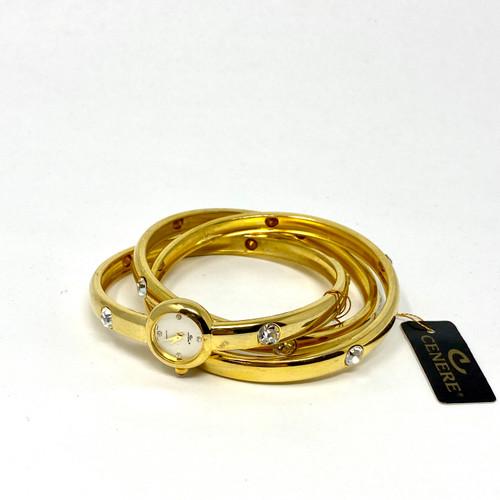 Cenere Triple Bangle Wristwatch- Front