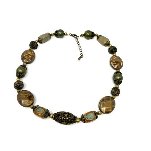 Filigree Beaded Necklace- Thumbnail