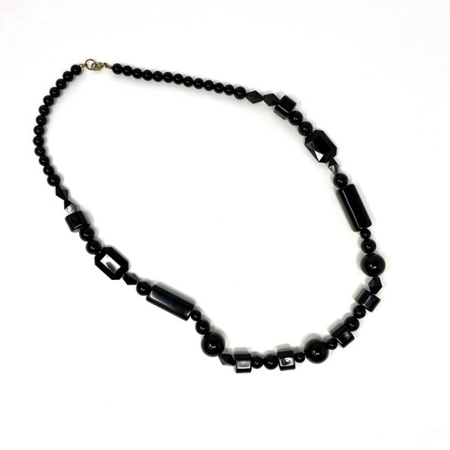 Geometric Beads Statement Necklace- Front