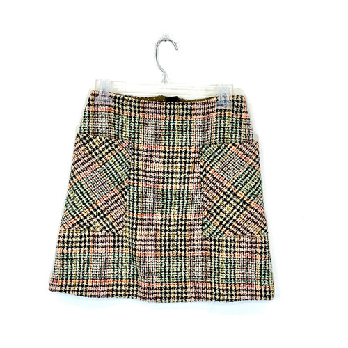 Maeve Tweed Mini Skirt- Front