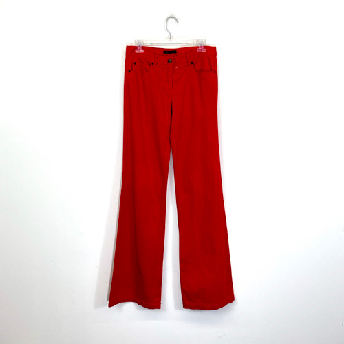 Theory Dyed Wide Leg Jeans- Front