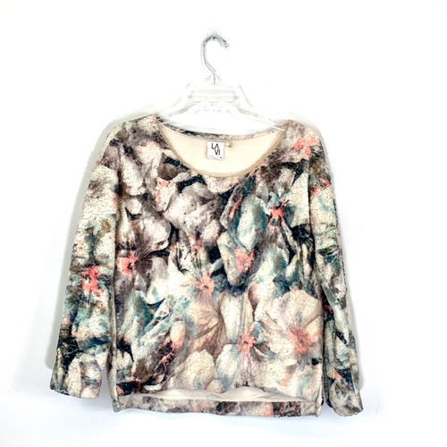 LAVI Abstract Fleece Sweatshirt- Front
