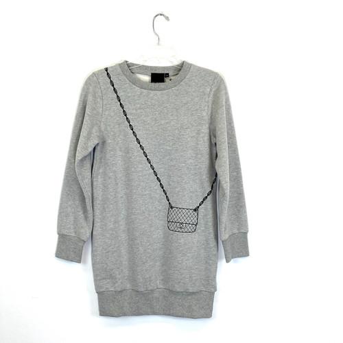 Cas$hmere Trompe L'Oeil Sweat Dress- Front