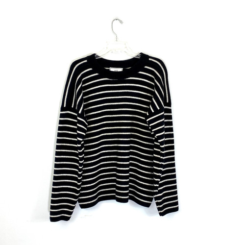 ami Striped Chunky Sweater- Front