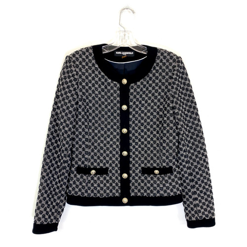 Karl Lagerfeld Jacquard Jacket- Front