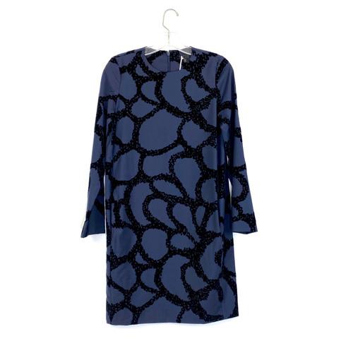 COS Cut Velvet Long Sleeve Dress- Front