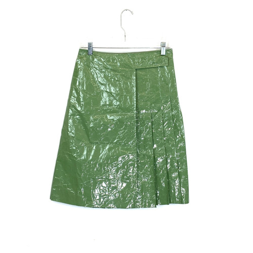 COS Plastic Look Pleated Skirt- Front
