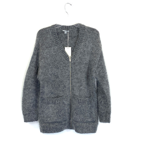 COS Fuzzy V-Neck Cardigan- Front