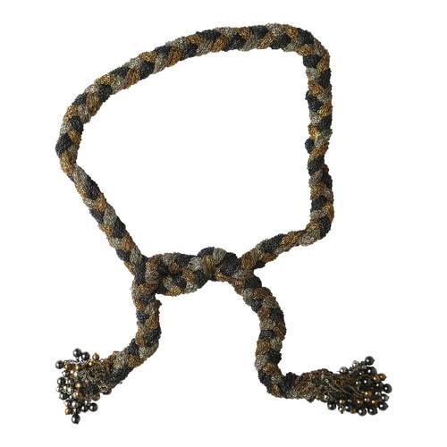 Vintage Braided Statement Necklace/Sash Belt- Front