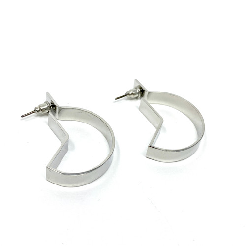 COS Open Angular Crescent Earrings- Thumbnail