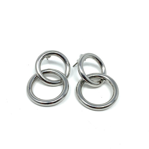 COS Modernist Drop Hoops- Front
