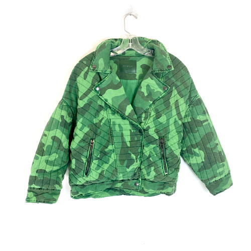 [BLANKNYC] Camo Print Quilted Moto Jacket - Thumbnail