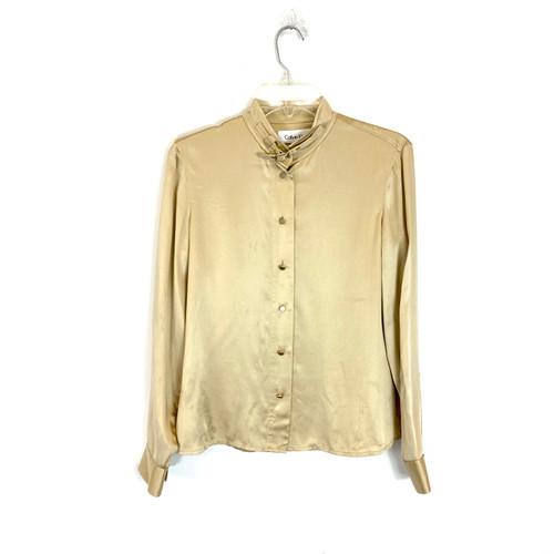 Calvin Klein Silk Button Down Shirt - Thumbnail