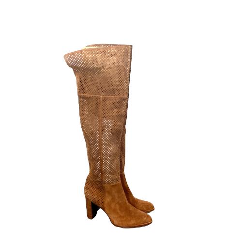 Diane von Furstenburg Laser Cut Knee High Boots- Right