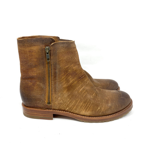 Frye Rustic Striated Ankle Boots- Right