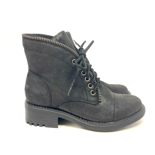 Carlos Zipper Edge Lace Up Boots- Right